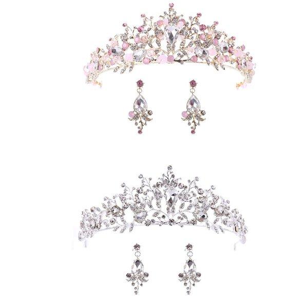 FangNymph 2018 Новая королева невесты Диадемы невесты корону с серьгами