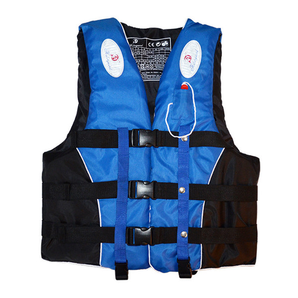 Polyester Adult Kids Swimming Boating Ski Drifting Life Vest With Whistle M-xxxl Sizes Water Sports Man Jacket C19041201