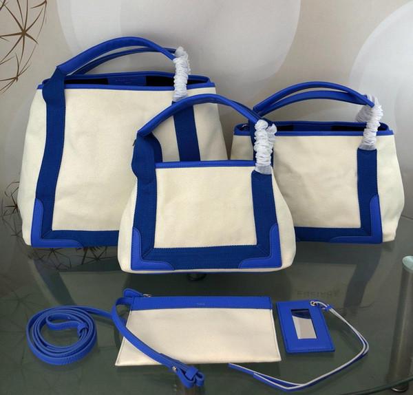 Neue 2019 Frauen Designer Luxus Handtaschen aus echtem Leder mit Leinwand Patchwork Umhängetasche Top-Qualität Damen Marke Lace Taschen 38x33.5x17cm