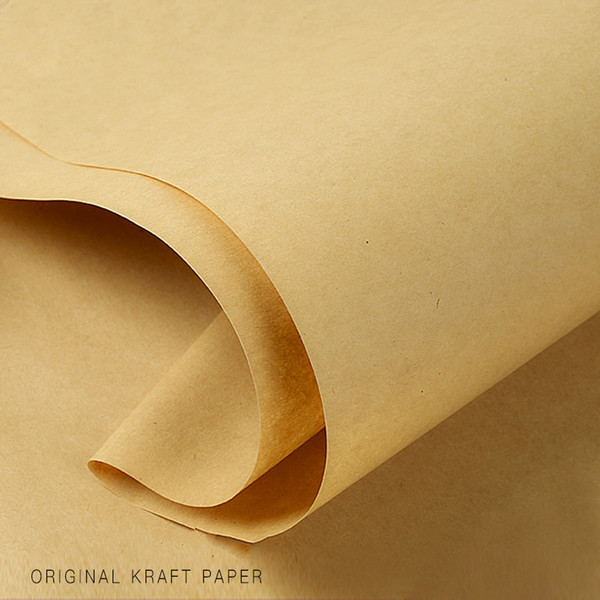 150pcs 60*60cm Brown Kraft Origami Paper DIY Handmake Card Making Craft Paper DIY Thick Paperboard Cardboard Flower Gift Wrapping