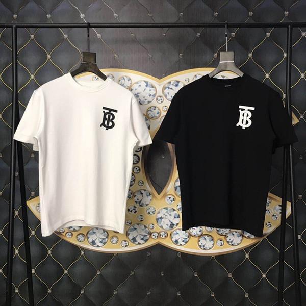 18ss europa londres hip hop t b t skate fresco t-shirt das mulheres dos homens de roupas de algodão casual camiseta