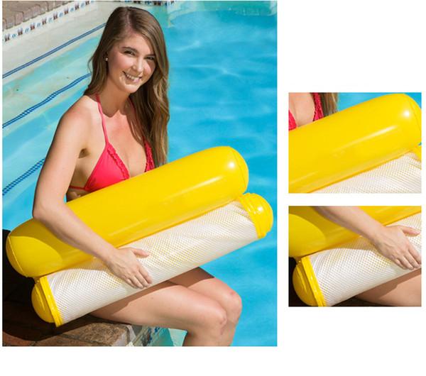 120 PCS Inflável Cama De Rede De Malha Flutuante Sofá Cadeira de Praia Cadeira de Mergulho Flutuante Dobrável Dobrável para Adulto 130x70 cm