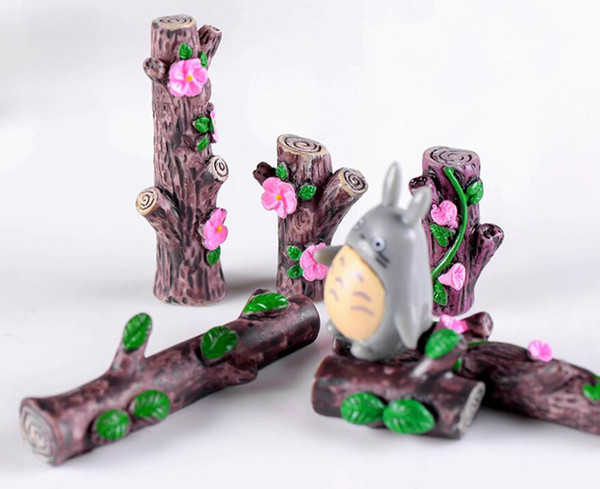 12Pcs Cute Flower Tree Stump Bonsai Figurines Fairy Garden Miniatures For Terrariums Ornament Dollhouse Home Decor