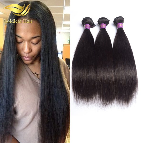 Peruvian straight hair extension wholesale price fast shipment Brazilain Indian Malaysian hair no shedding 3 pcs natural color straight hair