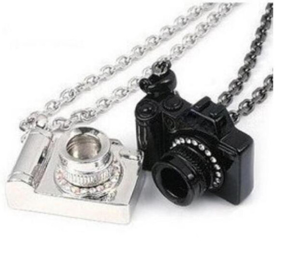 Crystal Camera Necklace Pendant Vintage Silver Black Art Photographer Charms Collar Choker Necklace Jewelry Fashion Women Gift Accessories