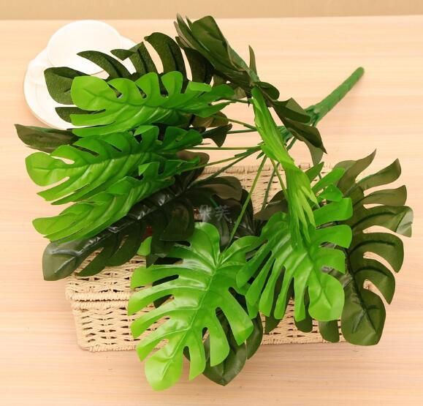 Simulato Banana Leaf Turtle indietro falso fiore verde piantare balcone ingegneria ristorante decorativo verde piantare prato decorativo WL293