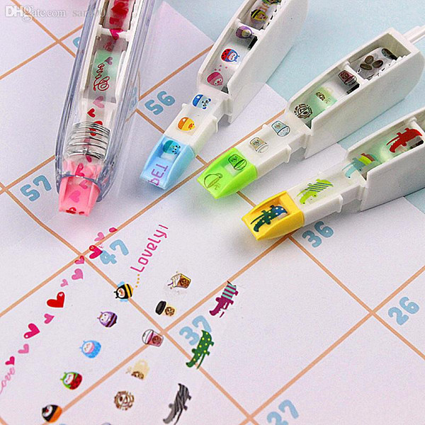 Wholesale-Japan push creative stationery lace correction tape can be replaced with a modified core value package with Japan