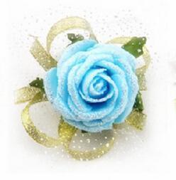 New Romantic Real Touch PU Decorazione di cerimonia nuziale 10 pezzi Corsetti fiore rosa artificiale da polso Rosa rosso blu FL911