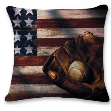 #4 Baseball Throw Pillow Case