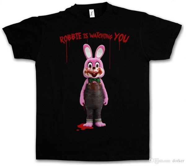 Harajuku New ROBBIE THE EVIL RABBIT T-SHIRT - Silent Hill Horror Resident Evil Movie Game Summer Casual Clothing