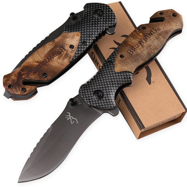 top popular hot wholesale Browning X50 folding knife Benchmade BM3300 A07 C81 UT121 A16 UTX85 ABS handle camping pocket knife tactical cutting EDC tool 2021