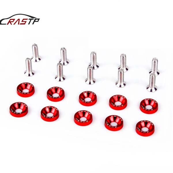 top popular RASTP-JDM Style Fender Washers (10pcs Pack) Washers and Bolt Aluminum for Honda Civic Integra RSX EK EG DC RS-QRF002 RS-QRF002 2020