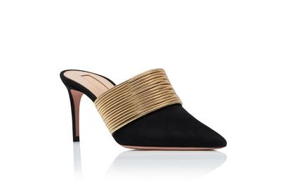 Perfect Official Quality Shoes Aquazzura Rendez Vous Pumps Genuine Leather New Release Slippers High Heel Shoes Sandals
