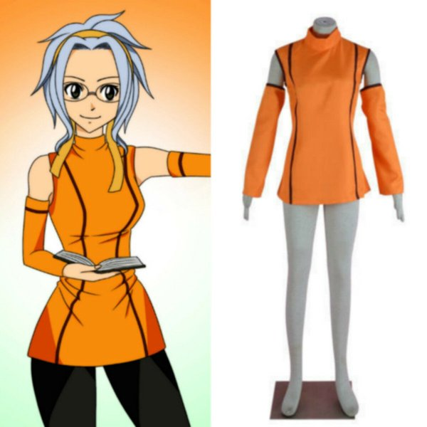 Chaud! Anime Fairy Tail Levy McGarden costume de cosplay