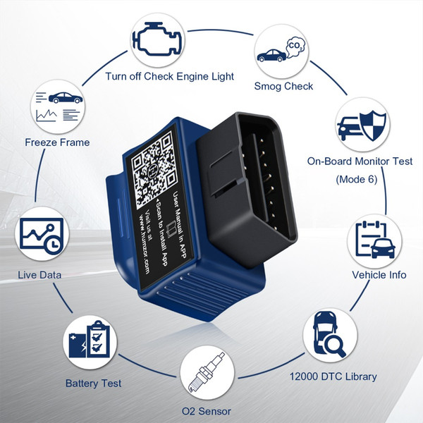 2019 NexzScan Bluetooth 4.2 Code Reader Professional OBDII Scan Tool for iPhone, iPad & Android OBDII Car Diagnostic Tool