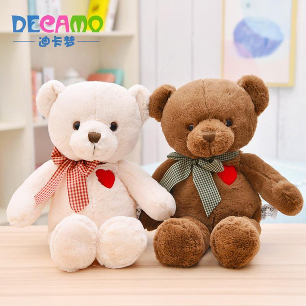 Couple Bear Stuffed Animal Collectible Plush Toys Pillow Car Decoration Cute Baby Valentine's Day Gifts Hot Toys Dolls