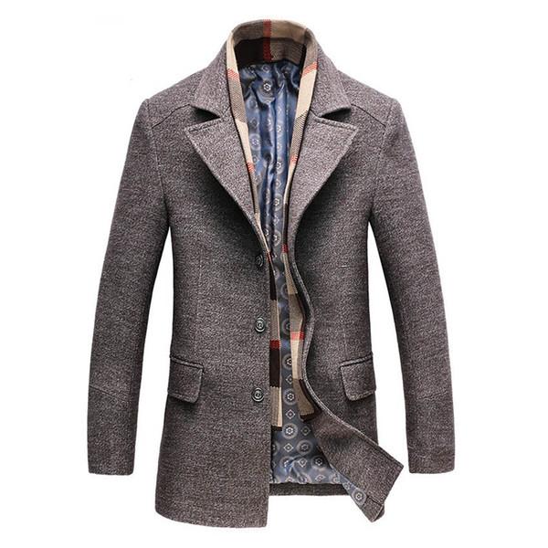 N Marca Novo Homem Trench Coat Casaco De Lã de Inverno Peacoat Lã Dos Homens Dos Homens Casaco Casacos masculinos Vestuário Masculino 198cy