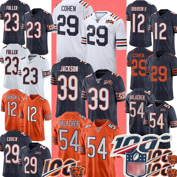 official photos 145c3 e27ef 2019 29 Tarik Cohen Chicago Bears Jersey 39 Eddie Jackson 23 Kyle Fuller 54  Brian Urlacher 12 Allen Robinson II Football Jerseys From Flyingjersey88,  ...