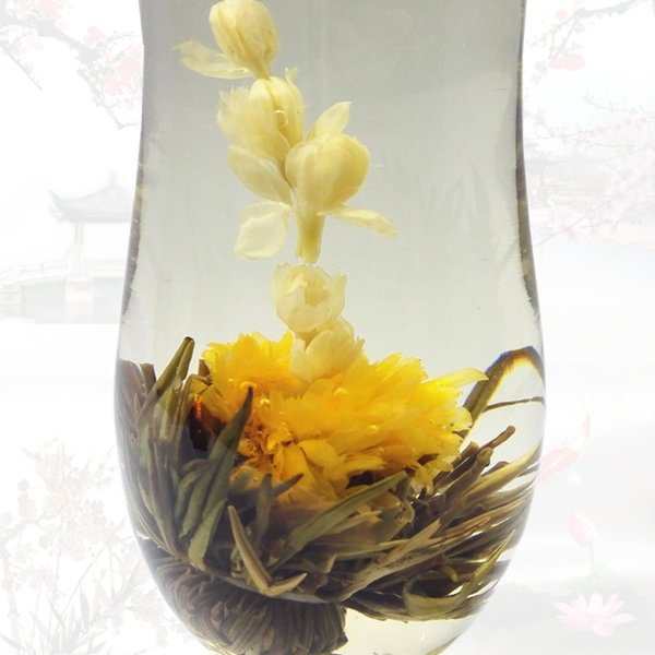 best selling 20 Kinds Of 100% Top Quality Chinese Handmade Different Flavored Flower Blooming Tea