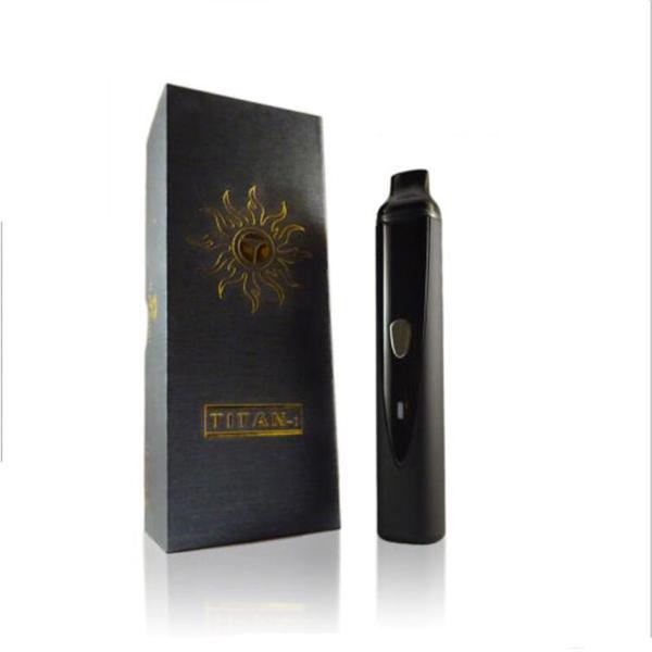 Titan I Herbal vaporizer Titan1 HEBE dry herb Vapor atomizer Kit 2200mAh Temperature Set Vape pen e cig cigarette vaporizer DHL free