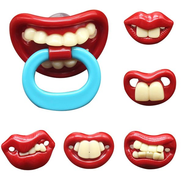 New Funny Lips Teeth Toddler Baby Silicone Dummy Soother Teething Sleep Pacifier