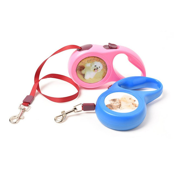 5M Retractable Dog Leash Extending Puppy Walking Leads For Dog Running Hands Freely Great Walking Leashes For