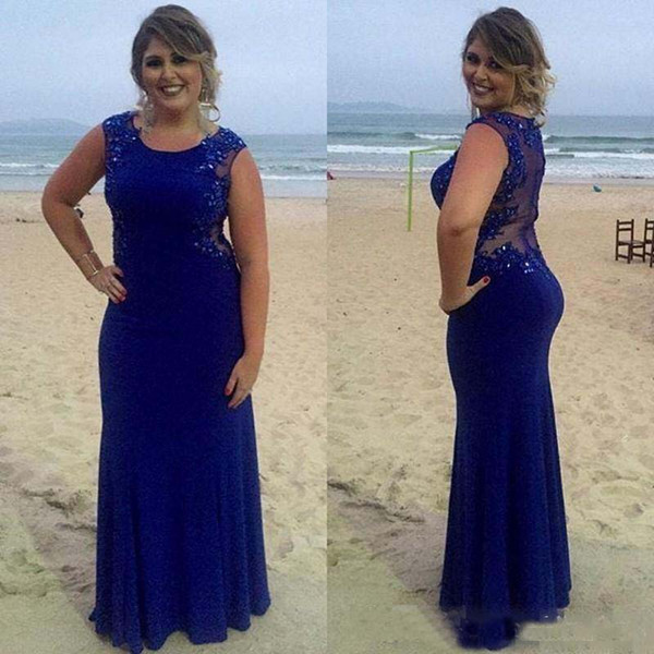 Azul marinho sheer voltar mãe de vestidos de noiva lace applique plus size vestidos de mãe para o casamento custom made mulheres vestidos de festa formal