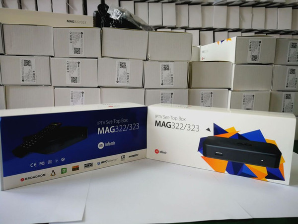 Factory Wholesales Latest MAG322/W1 1080P HD Linux Media Set top box Built-in wifi wireless smart tv box cheap for CA USA Europe