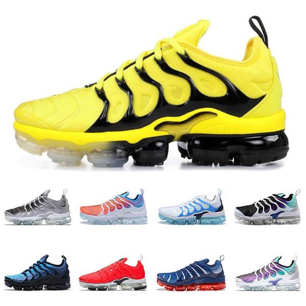 2019 TN Artı Oyunu Kraliyet turuncu ABD Mandalina nane Üzüm Volt Hiper Menekşe Erkek Eğitmenler Koşu Ayakkabıları Kadın Tasarımcı Spor Sneaker