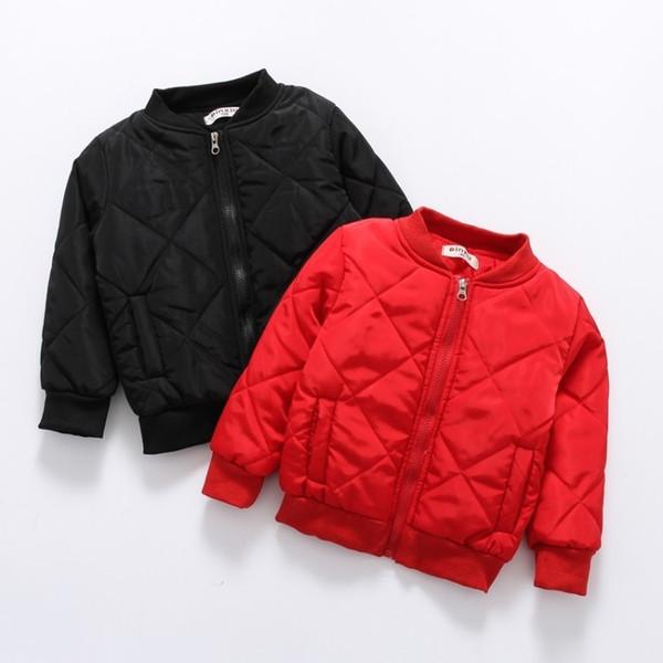 hiver veste pour enfants de nouveaux vêtements pour enfants couleur unie veste en coton de CJ191205