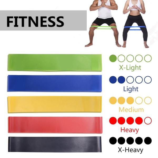 Elástico de goma bandas de resistencia de goma Gimnasio para equipos de gimnasia Ejercicio Banda de entrenamiento Tire de la cuerda Estiramiento Pilates Expander HHA134