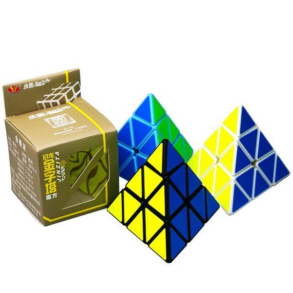 Cubo mágico Pirâmide Forma Terceira-ordem Puzzle Cube Profissional Ultra-suave Velocidade Magico Cubo Torção Quebra-cabeça DIY Presentes Educacionais Brinquedos