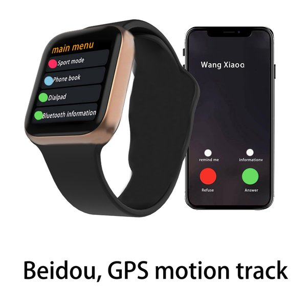 Adsorción magnética Carga inalámbrica Goophone Watch 4 Wearable Smart 44mm Bluetooth 4.0 para iPhone XS Max XR Samsung S10 S9 GPS iwatch