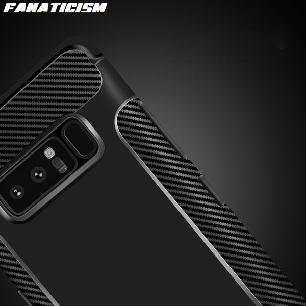 Fanaticism Carbon Fiber Soft TPU Silicone Phone Cases For Samsung S10 S9 S8 Plus Note 9 iphone XR XS Max Shockproof Back Cover