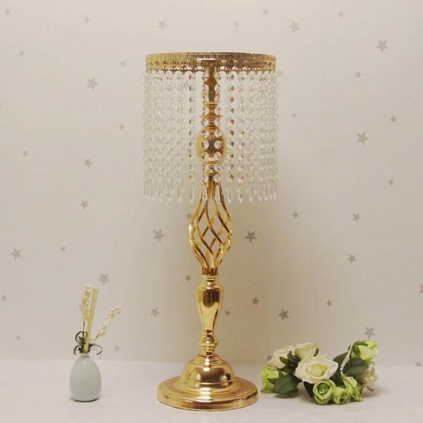 Strass Kandelaber Hochzeit Party Elegante Kerzenhalter Hübsche Tischdekoration Vase Stehen Kristall Kerzenständer Hochzeit Dekoration
