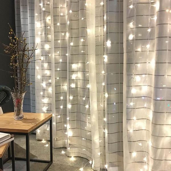 3x3 m 300 Lampada A Led Ornamenti Tenda Luci di Capodanno Luci Di Natale Decorazioni Per La Casa Festa Nuziale Home Decor Enfeites De Natal Y19061502