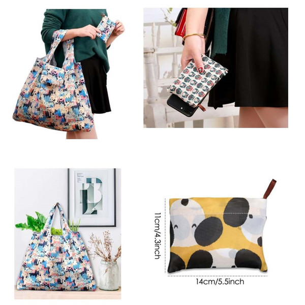 Waterproof Foldable Reusable Eco Shopping Travel Shoulder Bag Pouch Tote Handbag Folding Shopping Bags #90043