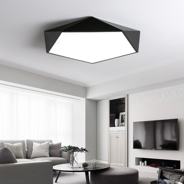 Creative geometric art led lighting ceiling lamp for Sitting room lamp study corridor balcony Ceiling Lighting