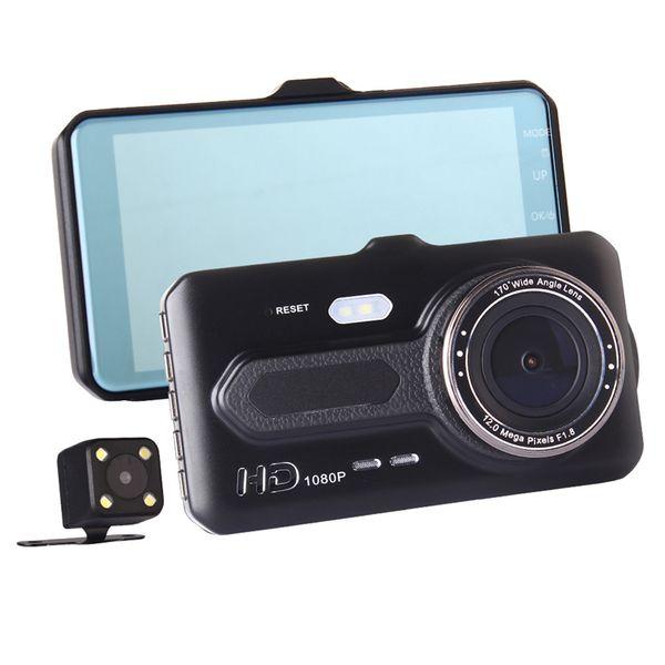 4 inches car DVR 2Ch car dashcam full HD video camera front 170° rear 120° night vision G-sensor motion detection parking monitor