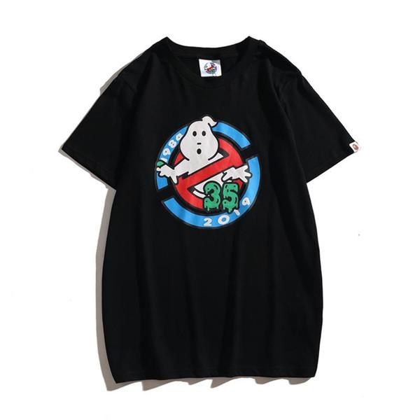 Novo preço de fábrica Ape camisetas Impressão Casual A Balneares em torno do pescoço de manga curta T-shirt adolescente Branco Lovly dos desenhos animados impressão de algodão alta Qualit