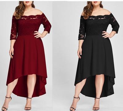 Vestidos Vestido De Noche Largo Formal Encaje Hombros Descubiertos Tallas Grandes Mujer Civilnodrustvo Ba