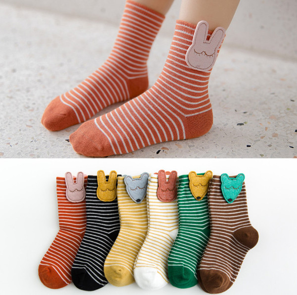 Cartoon Casual Cotton Spring Summer Animal Tail Pattern Short Sock Ankle Sock