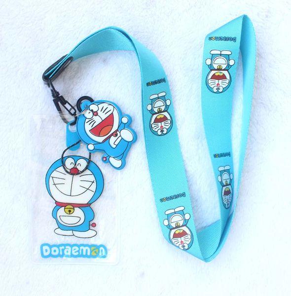 Alta calidad de dibujos animados Doraemon Lanyards Correa para el cuello Tarjeta de identificación Teléfono móvil Correa USB Badge Holder Cuerda llavero regalos