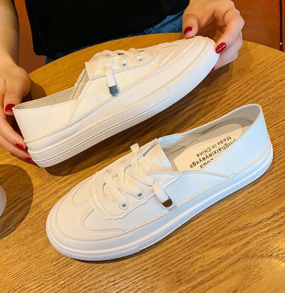 2019 yaz yeni gündelik giyim vahşi peri ayakkabı kalın alt ayakkabı moda düz renk ayakkabı rahat nefes ayakkabı