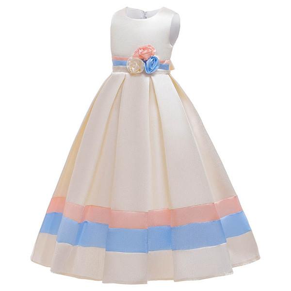 INS robes fille fleur enfants filles de mariage robes adolescent filles vêtements enfants robes formelles de robe de soirée robe de princesse A9356