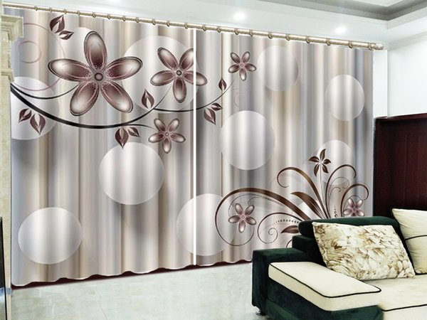 Delicate Five Petals Flower White Float Ball 3D Flower Curtain Interior Decoration Beautiful High-End Curtains