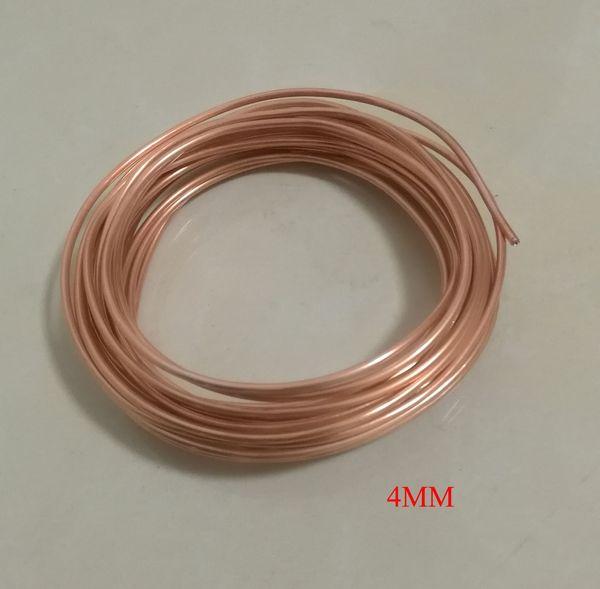 Diamètre extérieur environ 4 mm, condition douce, climatisation, tube en cuivre, matériau de bricolage, longueur d'environ 5 mètres