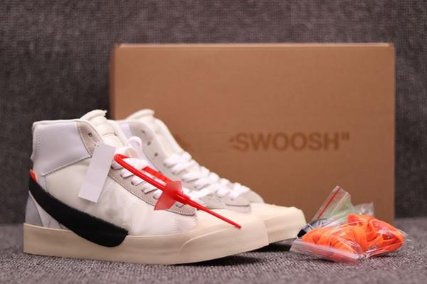 OFF-White x Nike Blazer 2019 haute qualité dernière marque Blazer Mid Grim Reaper chaussures de basketball noir pour hommes All Hallows Eve Designer chaussures de sport