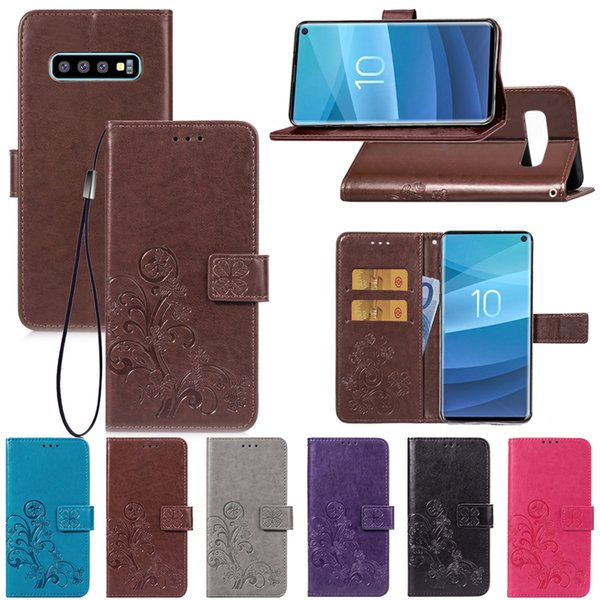 Premium PU Leather Flip Fold Wallet Case with [ID&Credit Card Slot] for Samsung Galaxy S10 S3 S4 S5 Mini