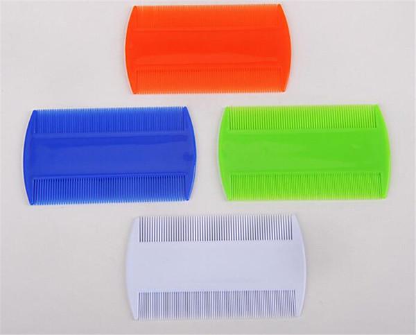 Doppelseitiger Kopf Läuse Kamm Protable Feiner Zahn Läuse Floh Nit Haarkämme für Styling-Werkzeuge